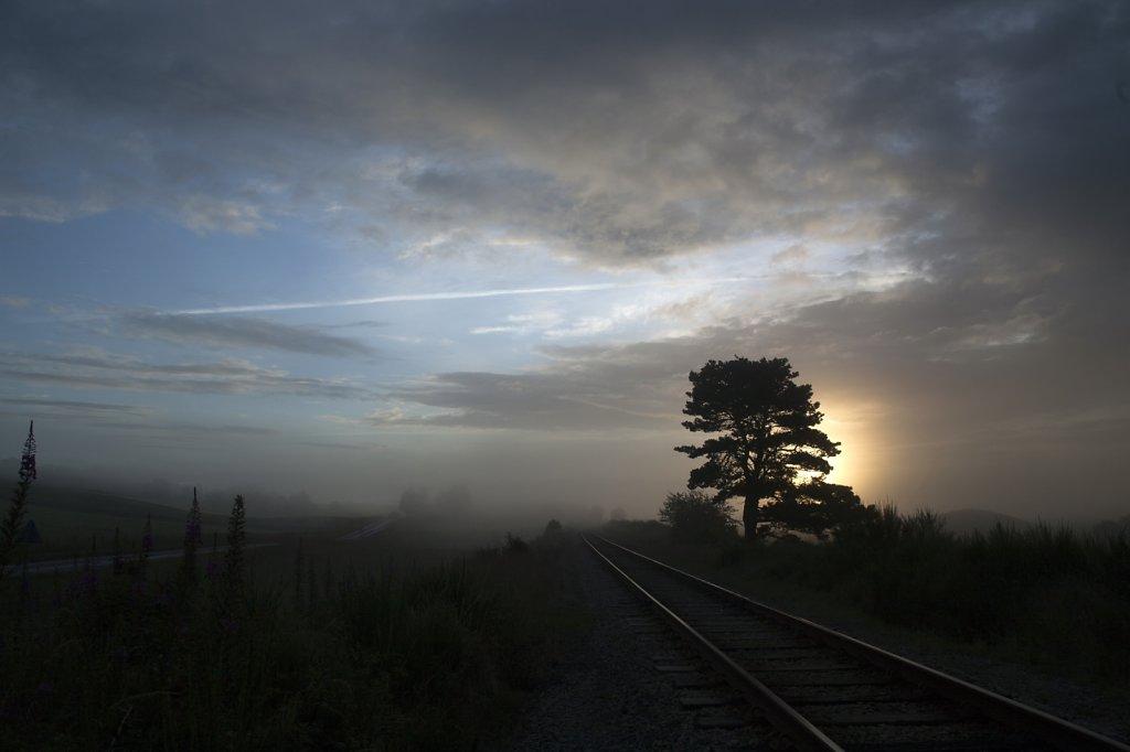 Railway at Lackgie, Strathspey