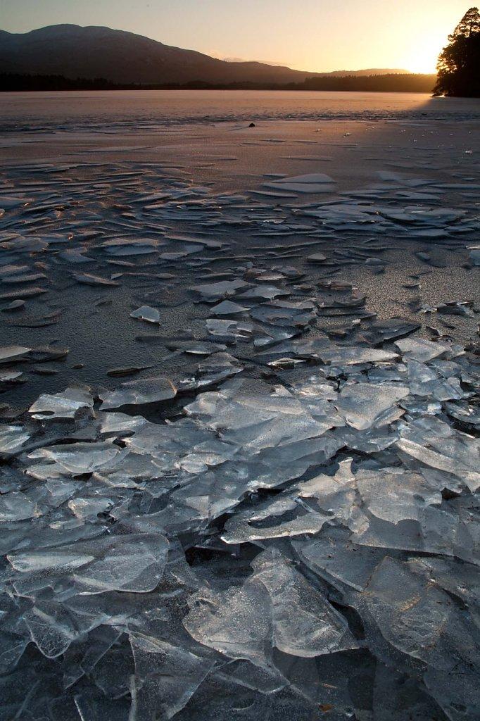 Ice sunset, Loch Garten